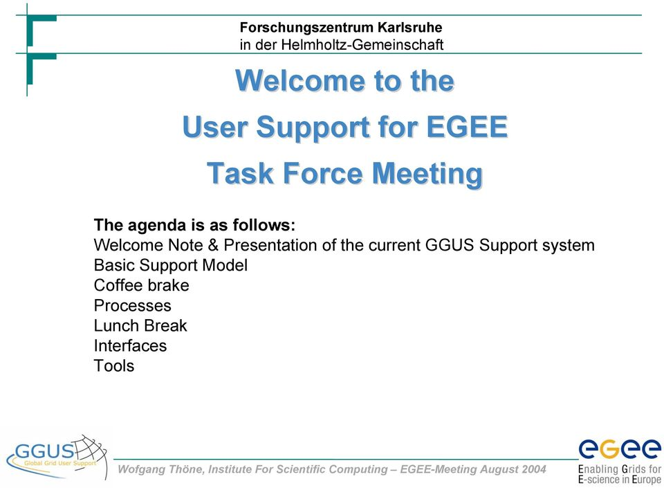 Presentation of the current GGUS Support system Basic
