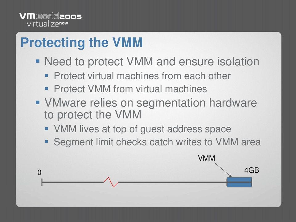 ware relies on segmentation hardware to protect the M M lives at