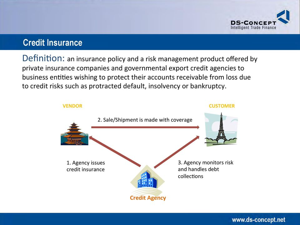 from loss due to credit risks such as protracted default, insolvency or bankruptcy. VENDOR CUSTOMER 2.