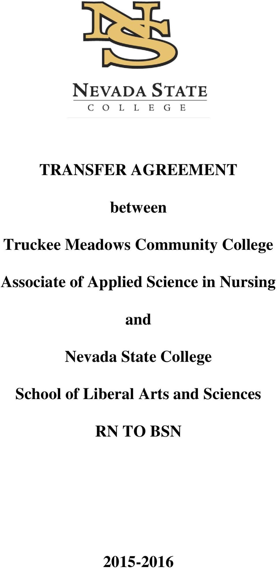Science in Nursing and Nevada State College