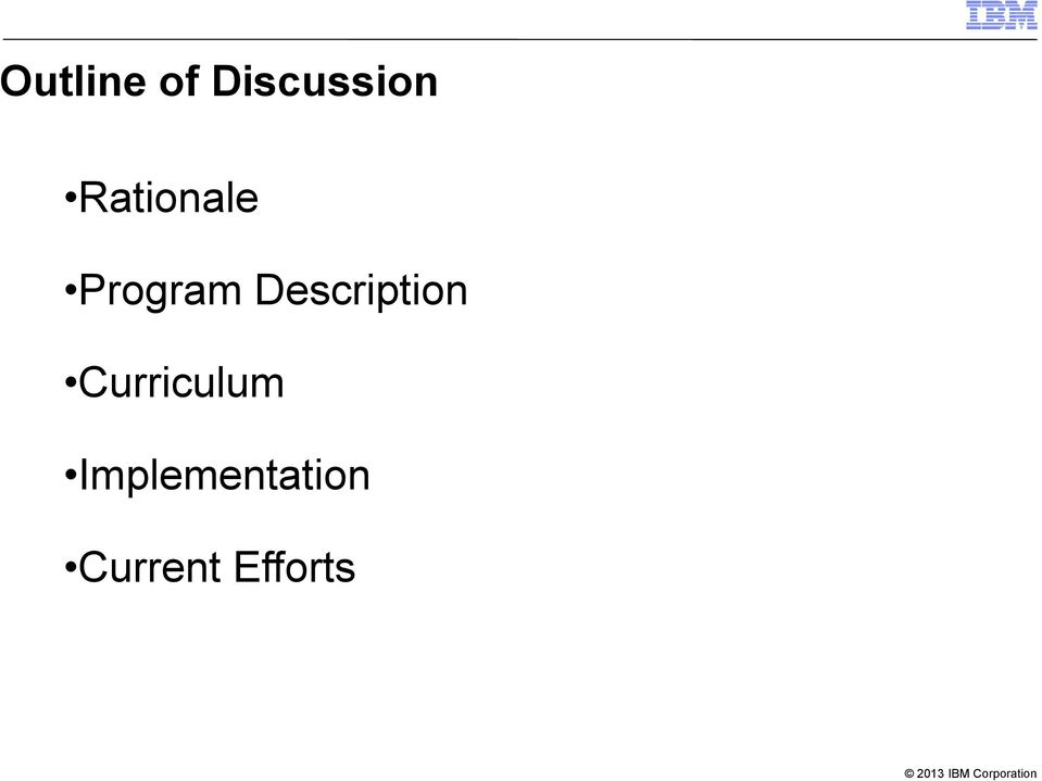 Description Curriculum