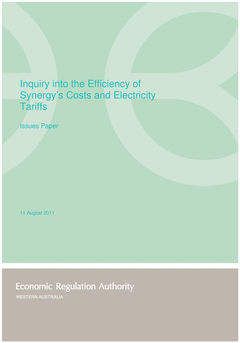 Costs and Electricity