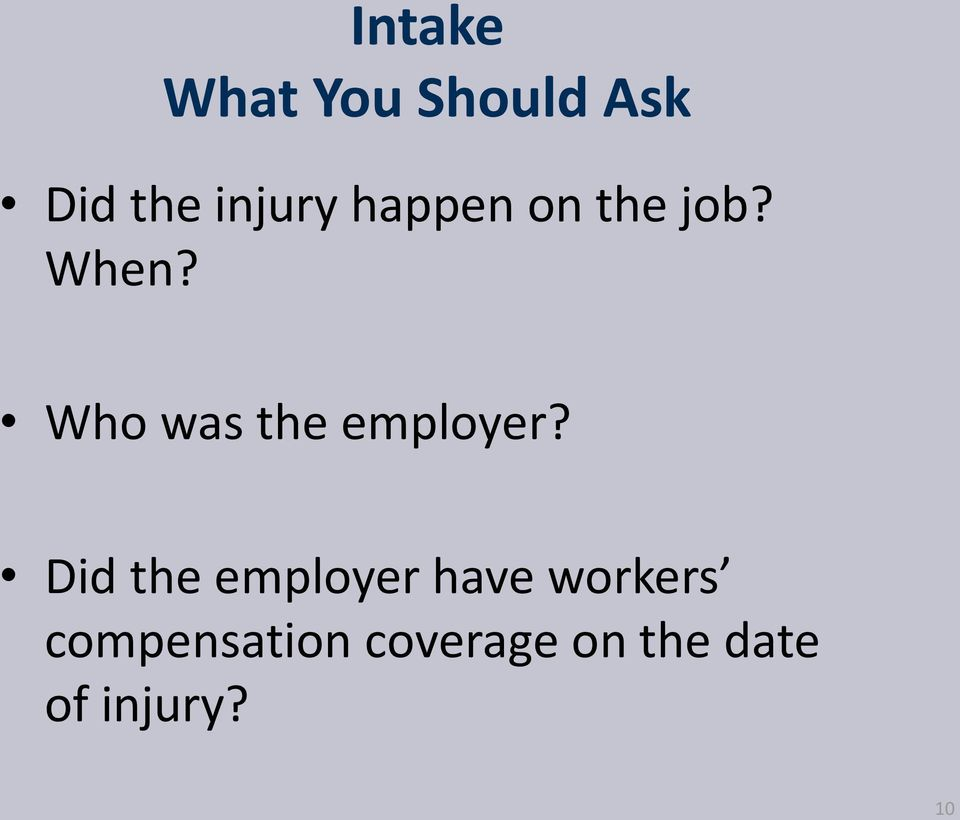 Who was the employer?