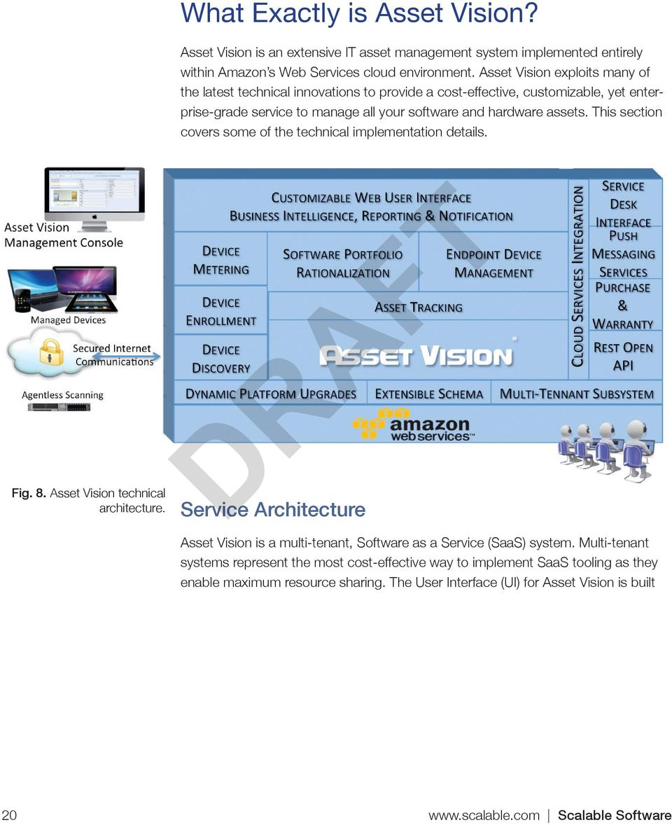This section covers some of the technical implementation details. Fig. 8. Asset Vision technical architecture.