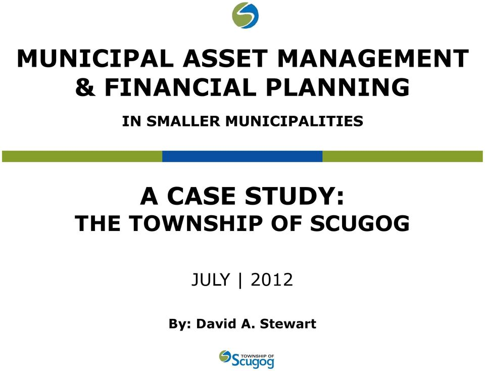 MUNICIPALITIES A CASE STUDY: THE