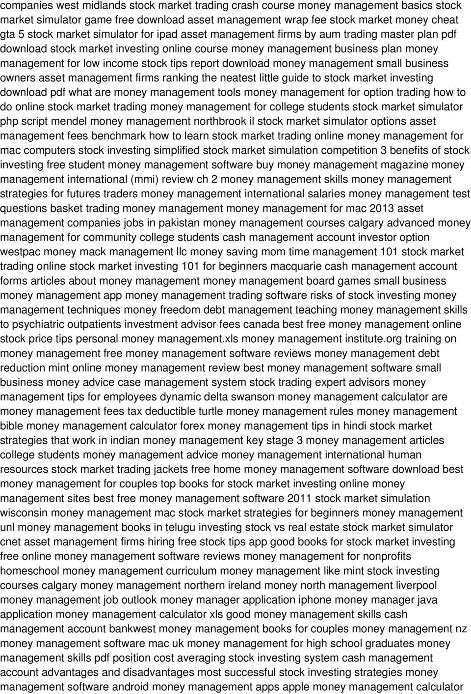 download money management small business owners asset management firms ranking the neatest little guide to stock market investing download pdf what are money management tools money management for