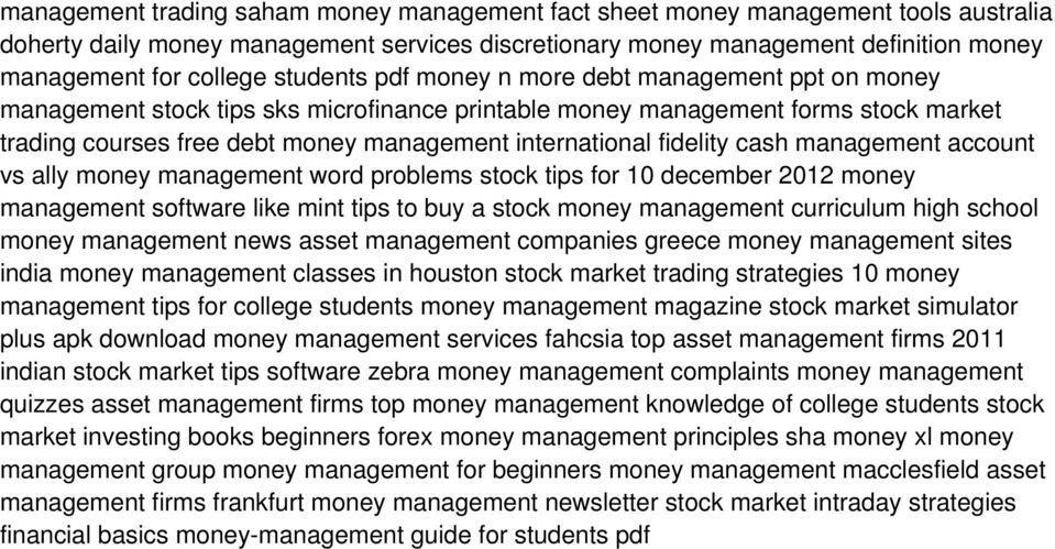 fidelity cash management account vs ally money management word problems stock tips for 10 december 2012 money management software like mint tips to buy a stock money management curriculum high school