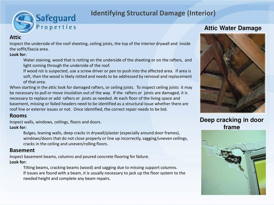 If wood rot is suspected, use a screw driver or pen to push into the affected area. If area is soft, then the wood is likely rotted and needs to be addressed by removal and replacement of that area.