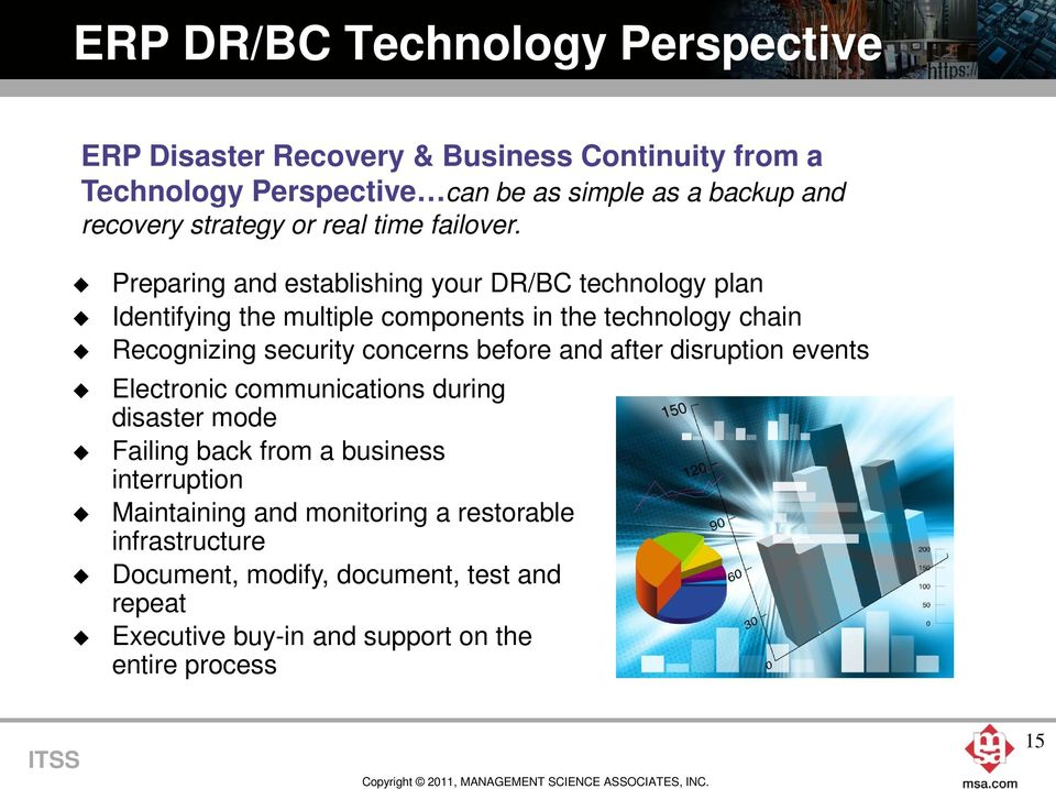 Preparing and establishing your DR/BC technology plan Identifying the multiple components in the technology chain Recognizing security concerns before