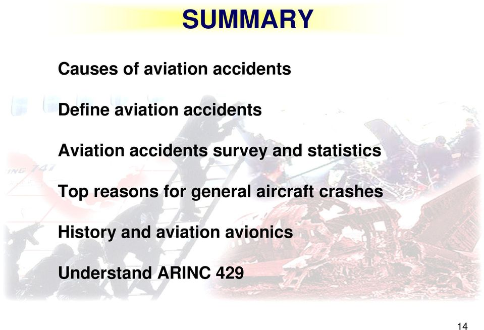 statistics Top reasons for general aircraft