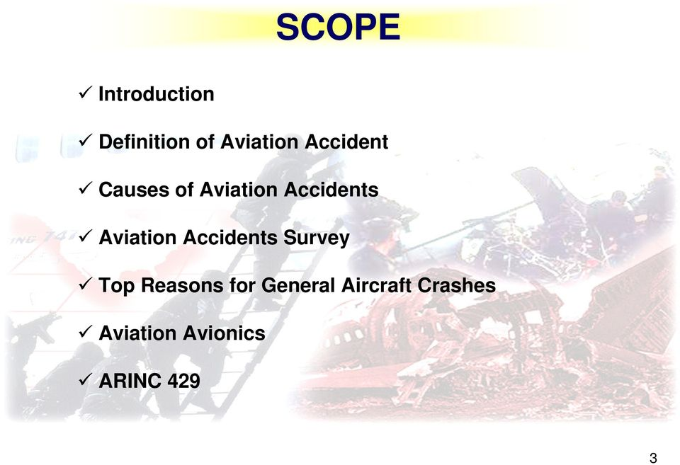 Aviation Accidents Survey Top Reasons for