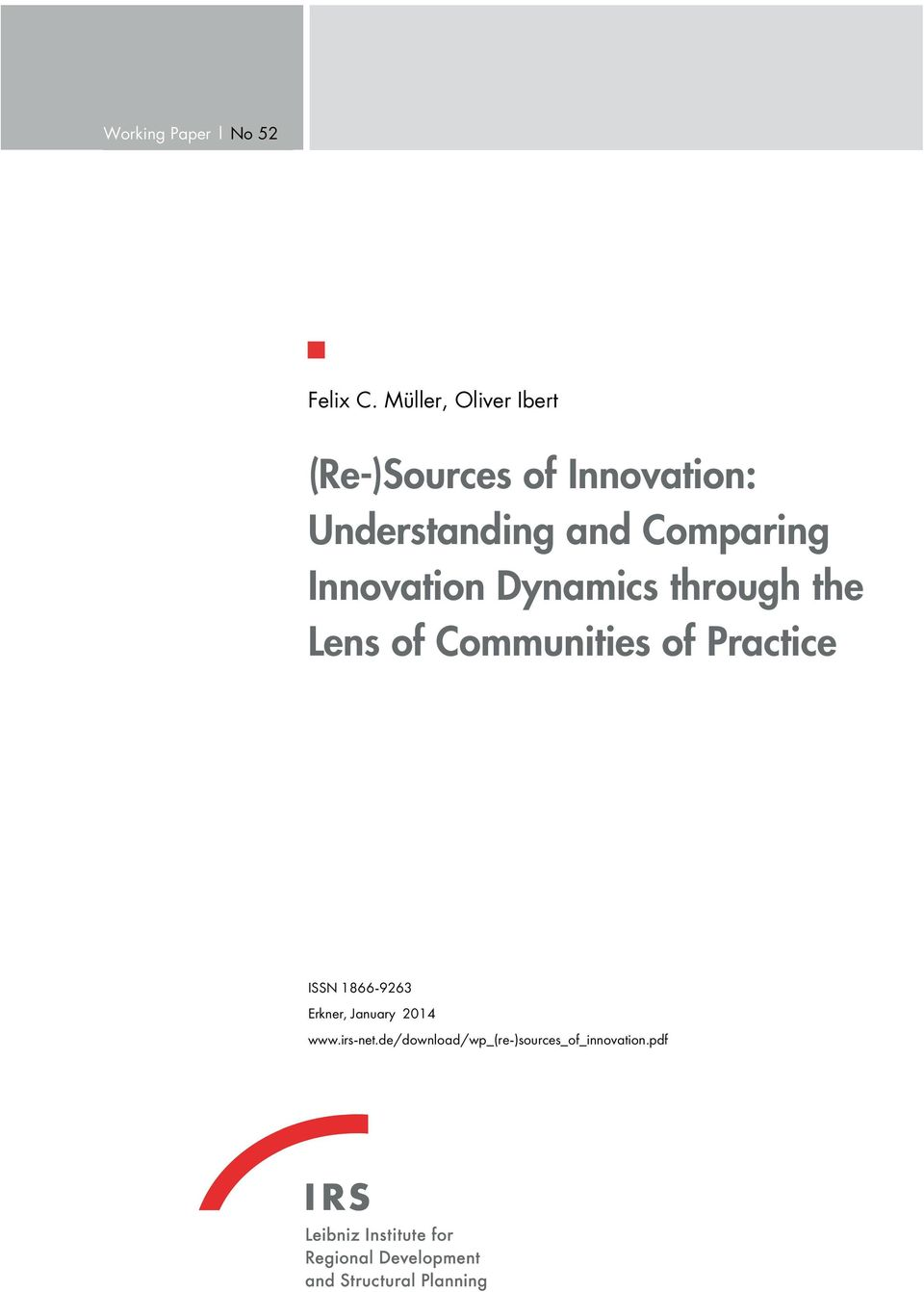 Comparing Innovation Dynamics through the Lens of Communities of