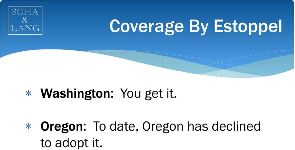 Oregon: To date, Oregon