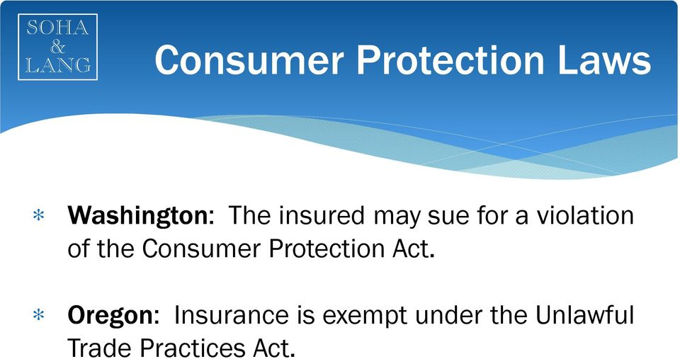 Consumer Protection Act.