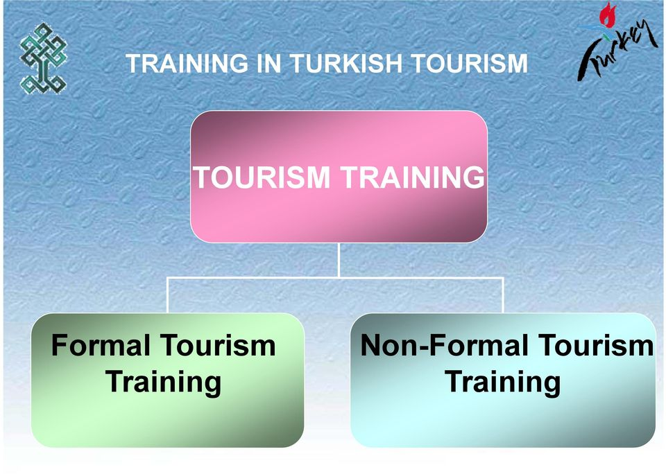 TRAINING Formal Tourism