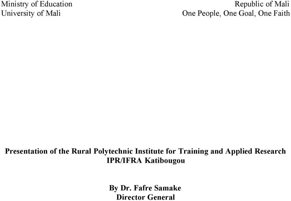 Rural Polytechnic Institute for Training and Applied