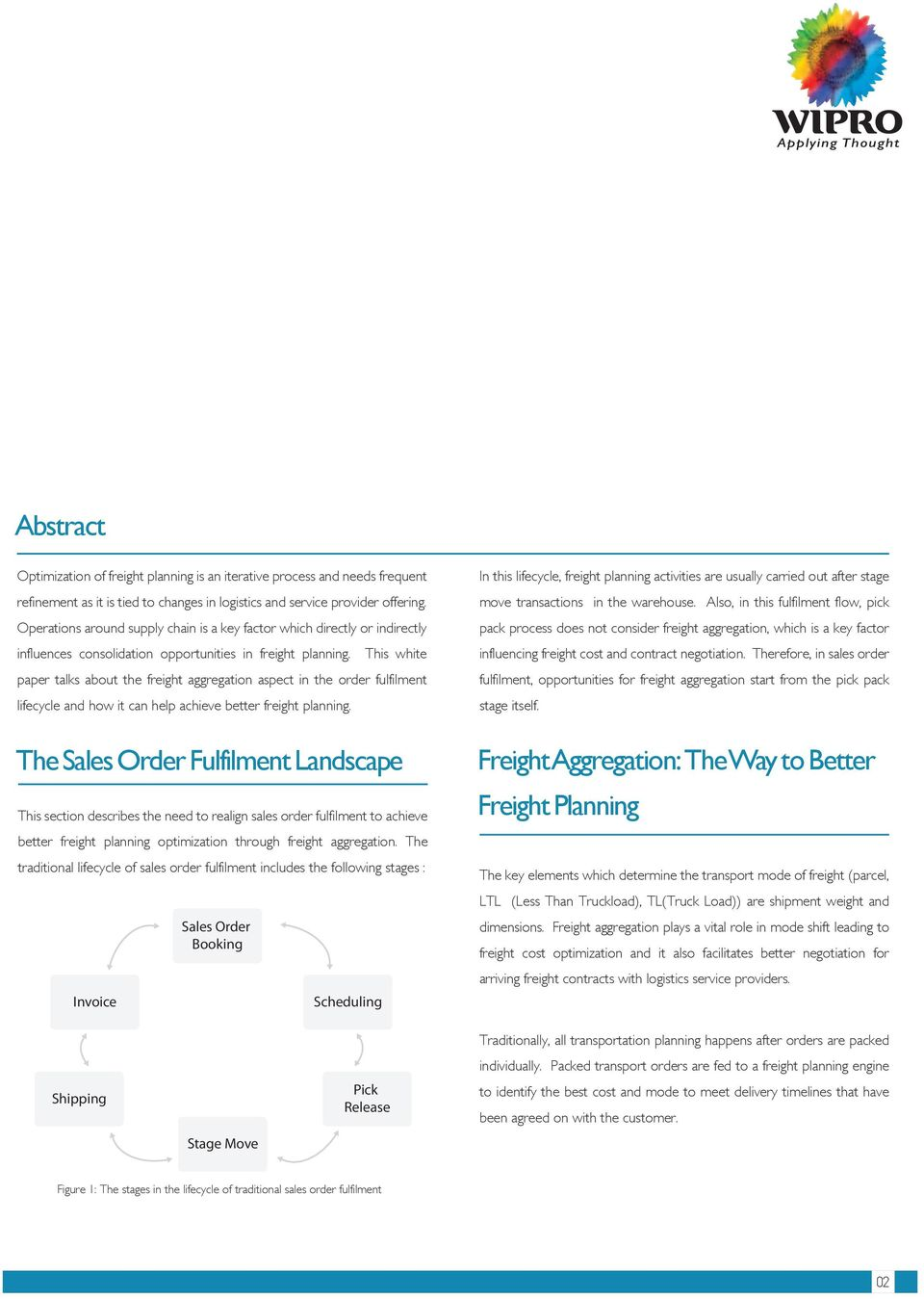 This white paper talks about the freight aggregation aspect in the order fulfilment lifecycle and how it can help achieve better freight planning.
