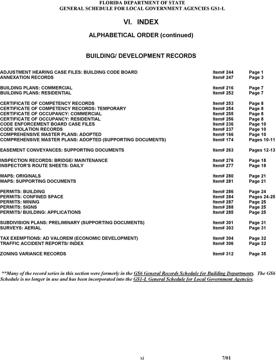 Item# 216 Page 7 BUILDING PLANS: RESIDENTIAL Item# 252 Page 7 CERTIFICATE OF COMPETENCY RECORDS Item# 253 Page 8 CERTIFICATE OF COMPETENCY RECORDS: TEMPORARY Item# 254 Page 8 CERTIFICATE OF