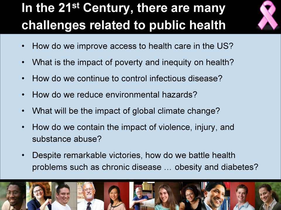 How do we reduce environmental hazards? What will be the impact of global climate change?