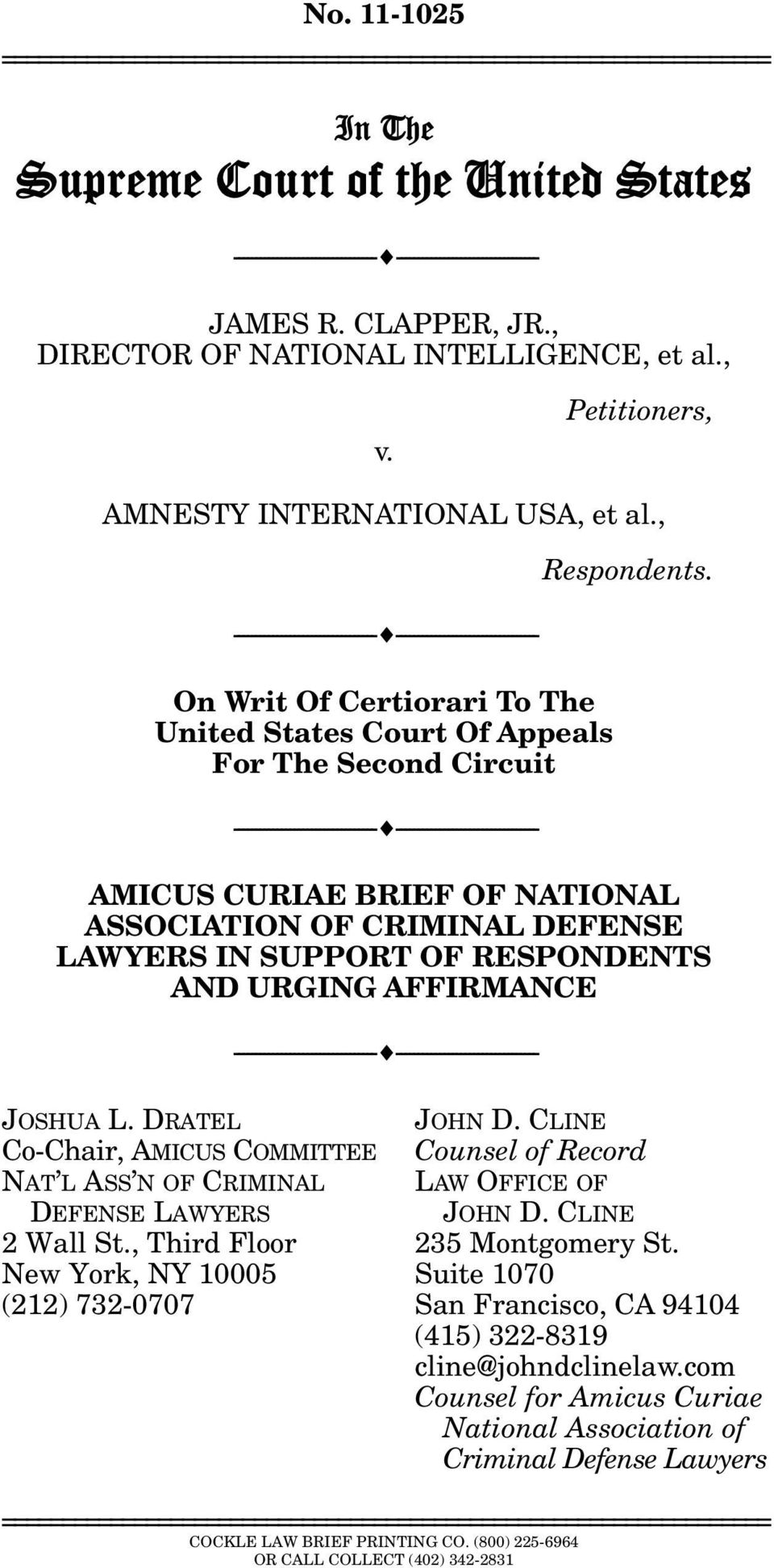 , --------------------------------- --------------------------------- On Writ Of Certiorari To The United States Court Of Appeals For The Second Circuit ---------------------------------