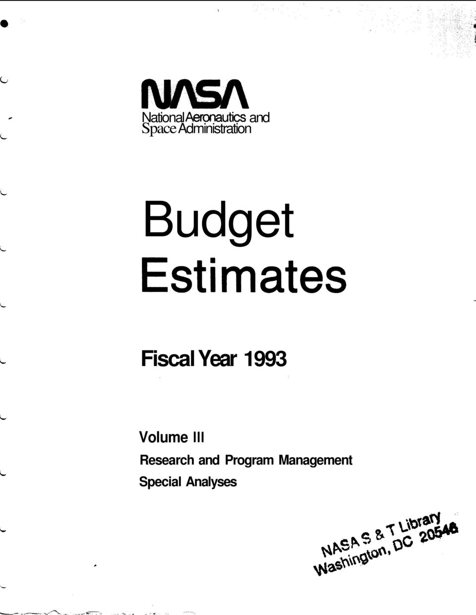 Fiscal Year 1993 Volume 111 Research