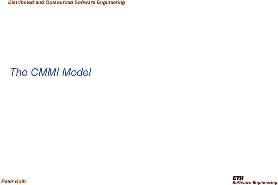 Engineering The CMMI