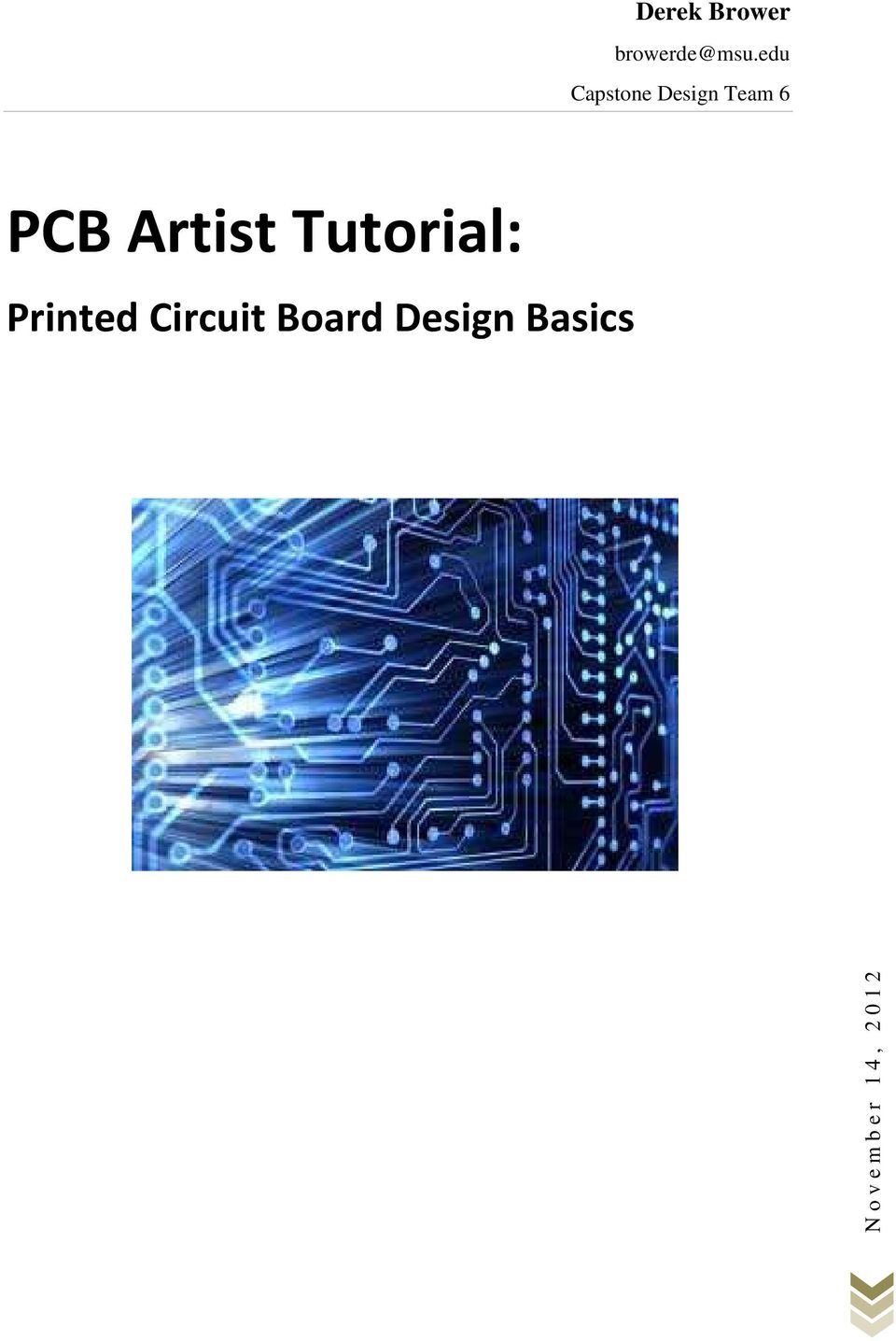 Artist Tutorial: Printed Circuit