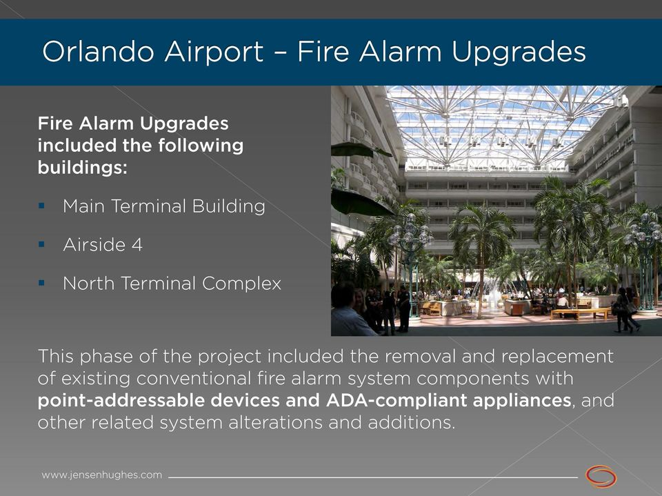 replacement of existing conventional fire alarm system components with