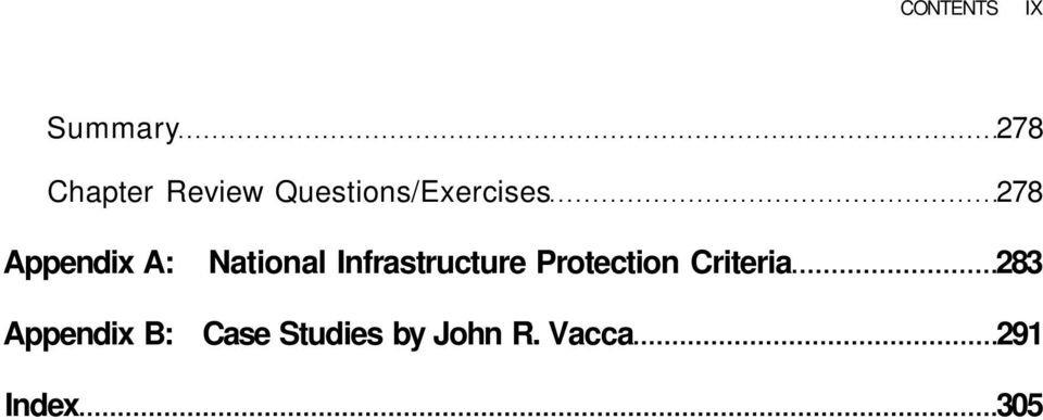 Infrastructure Protection Criteria 283
