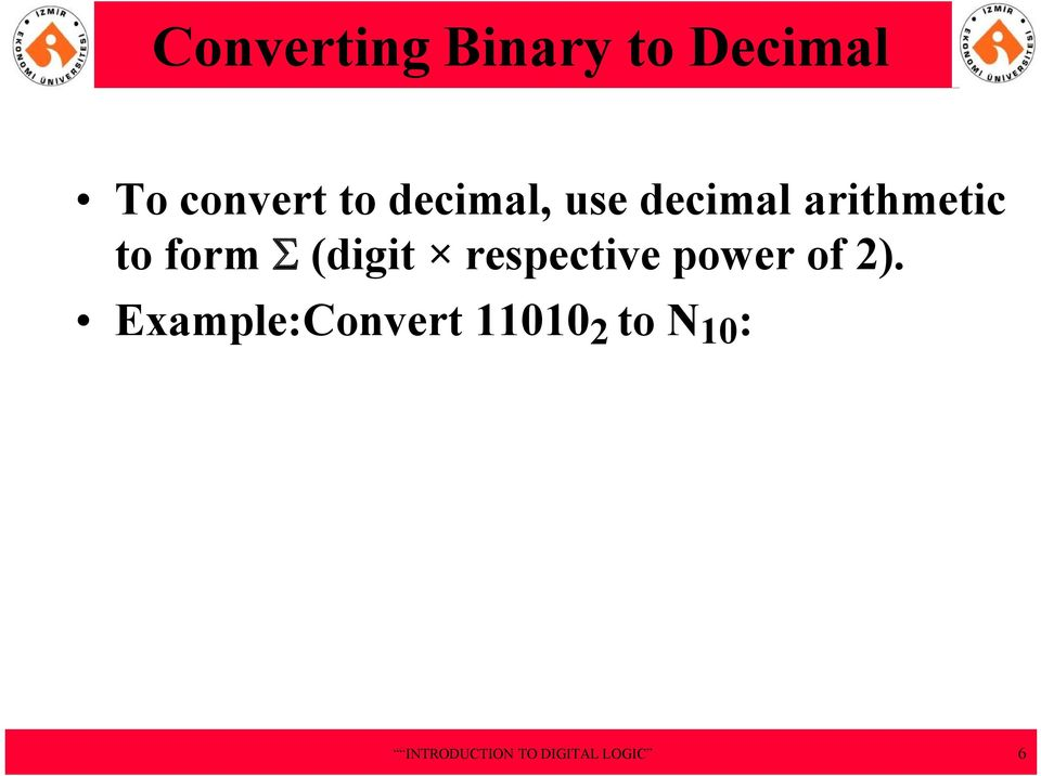 arithmetic to form S (digit