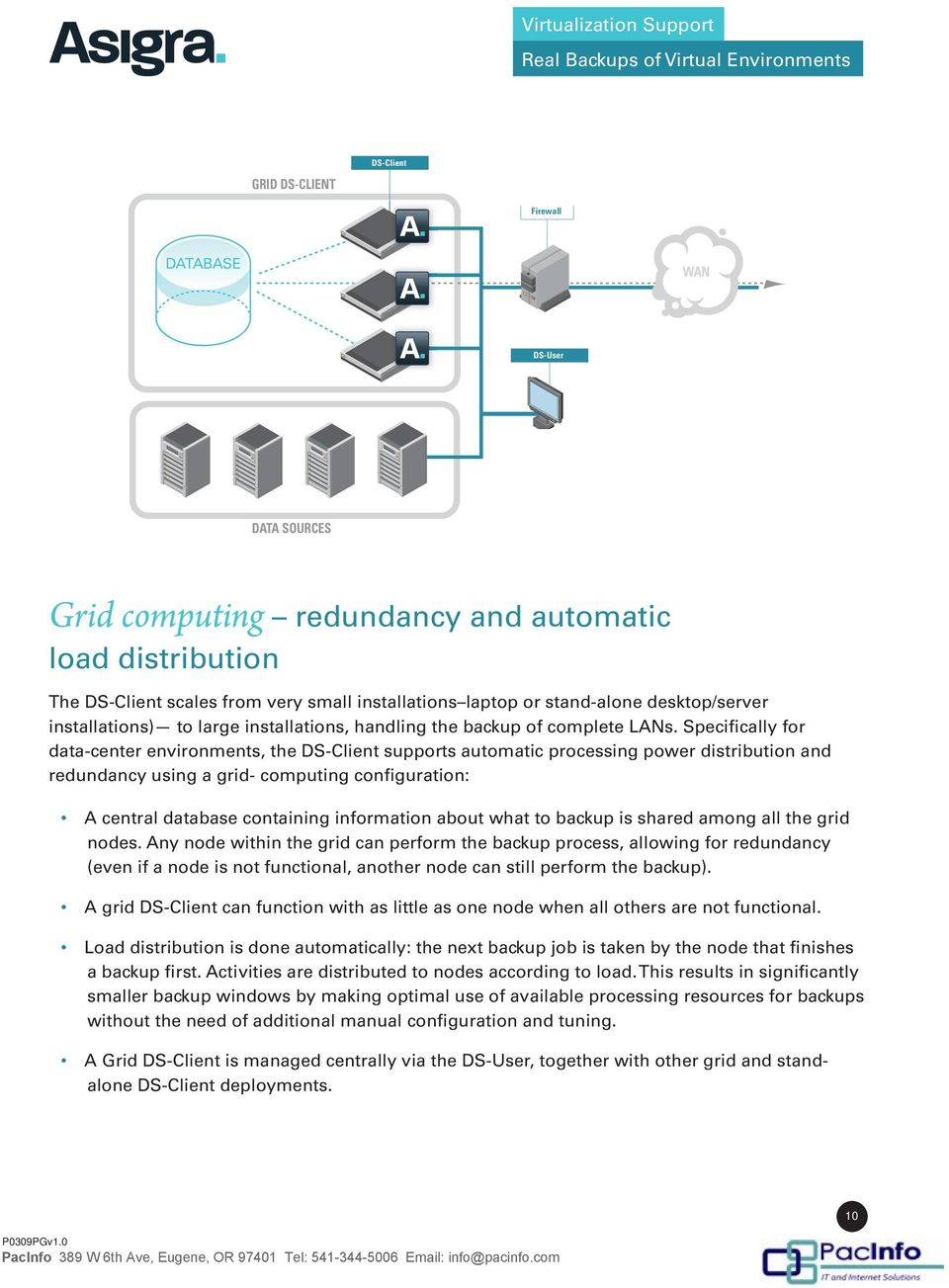 Specifically for data-center environments, the supports automatic processing power distribution and redundancy using a grid- computing configuration: A central database containing information about
