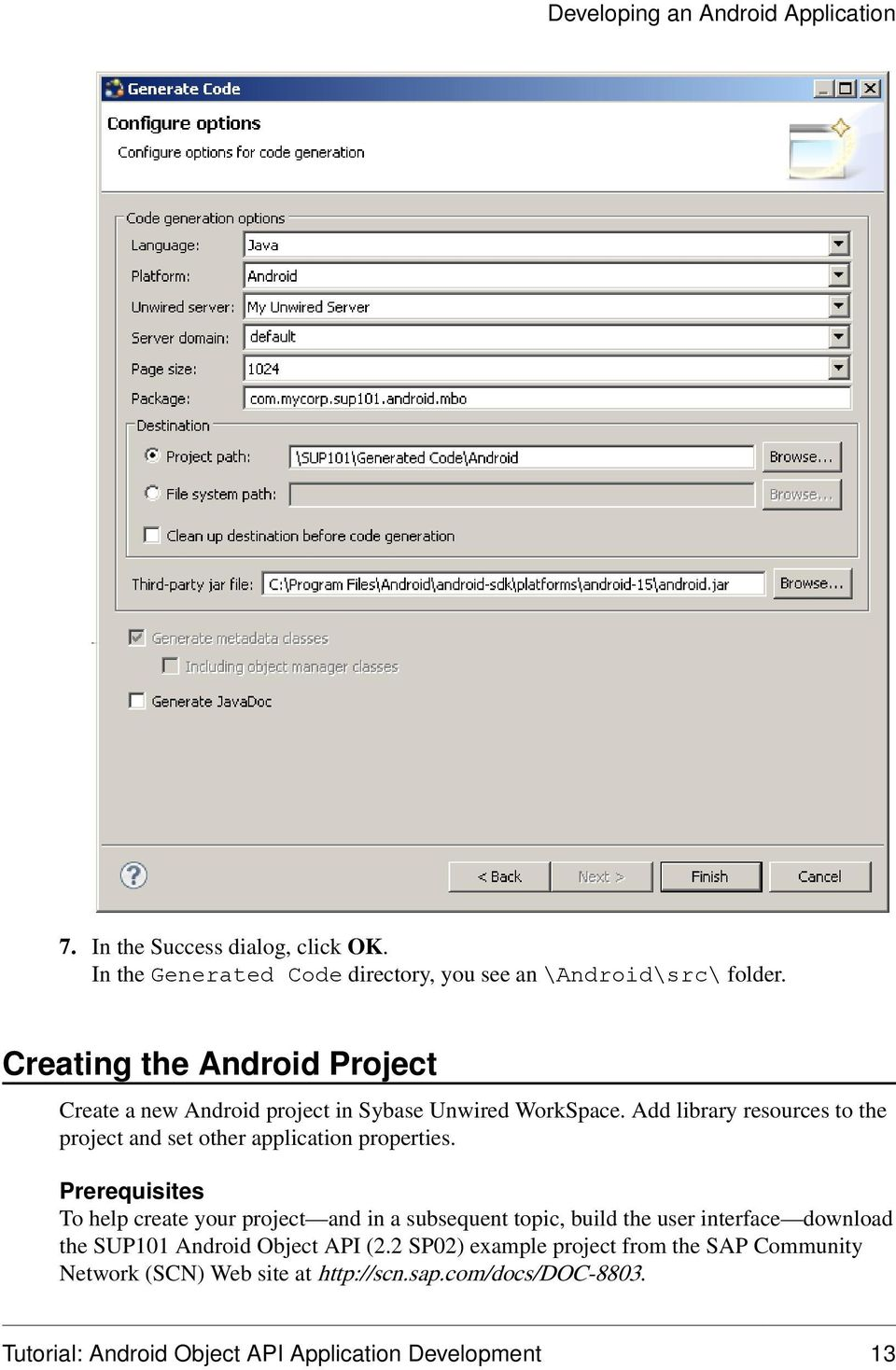 Add library resources to the project and set other application properties.