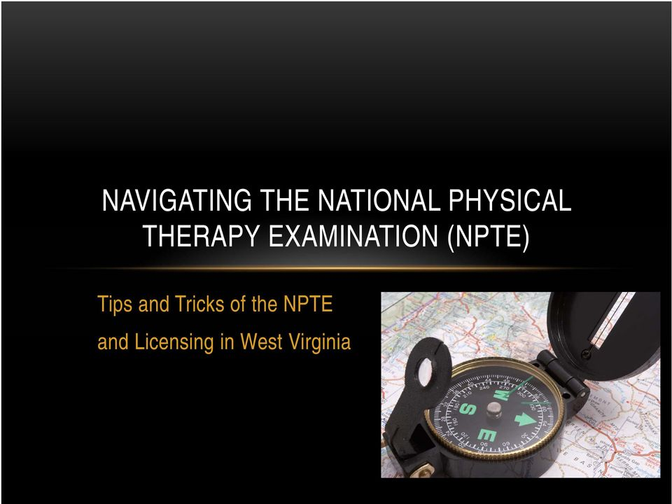 (NPTE) Tips and Tricks of the