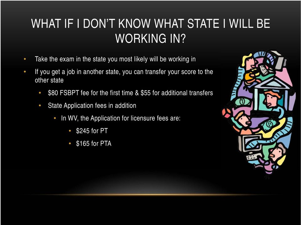 state, you can transfer your score to the other state $80 FSBPT fee for the first time &