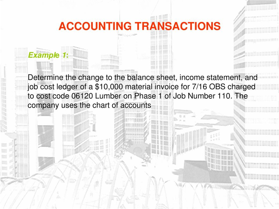 invoice for 7/16 OBS charged to cost code 06120 Lumber on