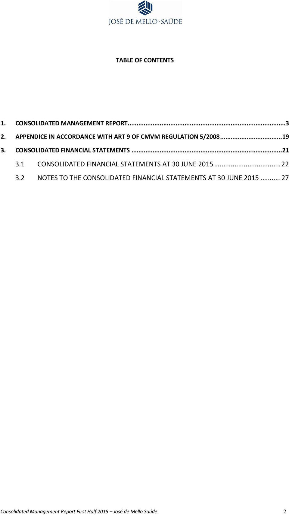 CONSOLIDATED FINANCIAL STATEMENTS... 21 3.