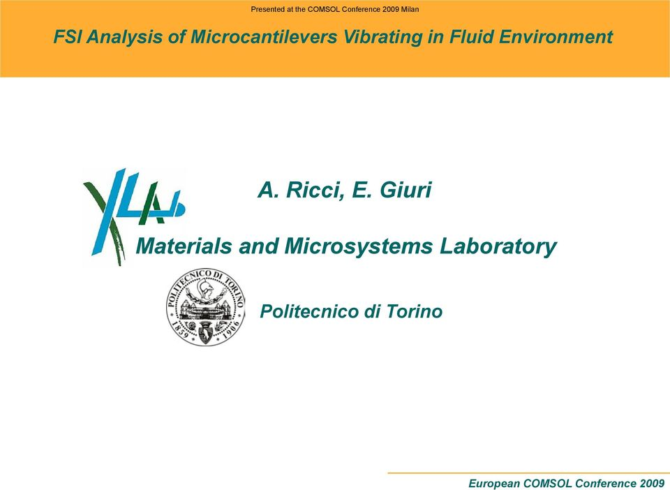 Vibrating in Fluid Environment Materials