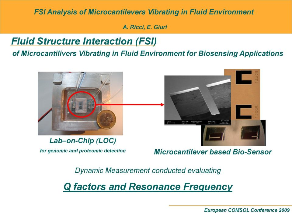 genomic and proteomic detection Microcantilever based Bio-Sensor