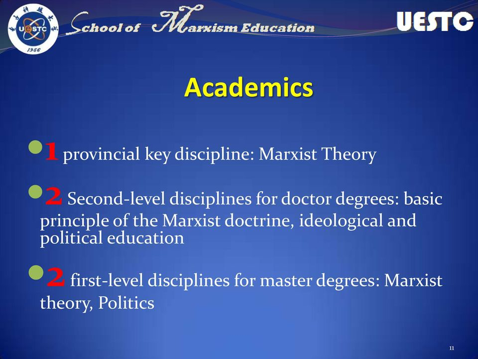 of the Marxist doctrine, ideological and political education 2