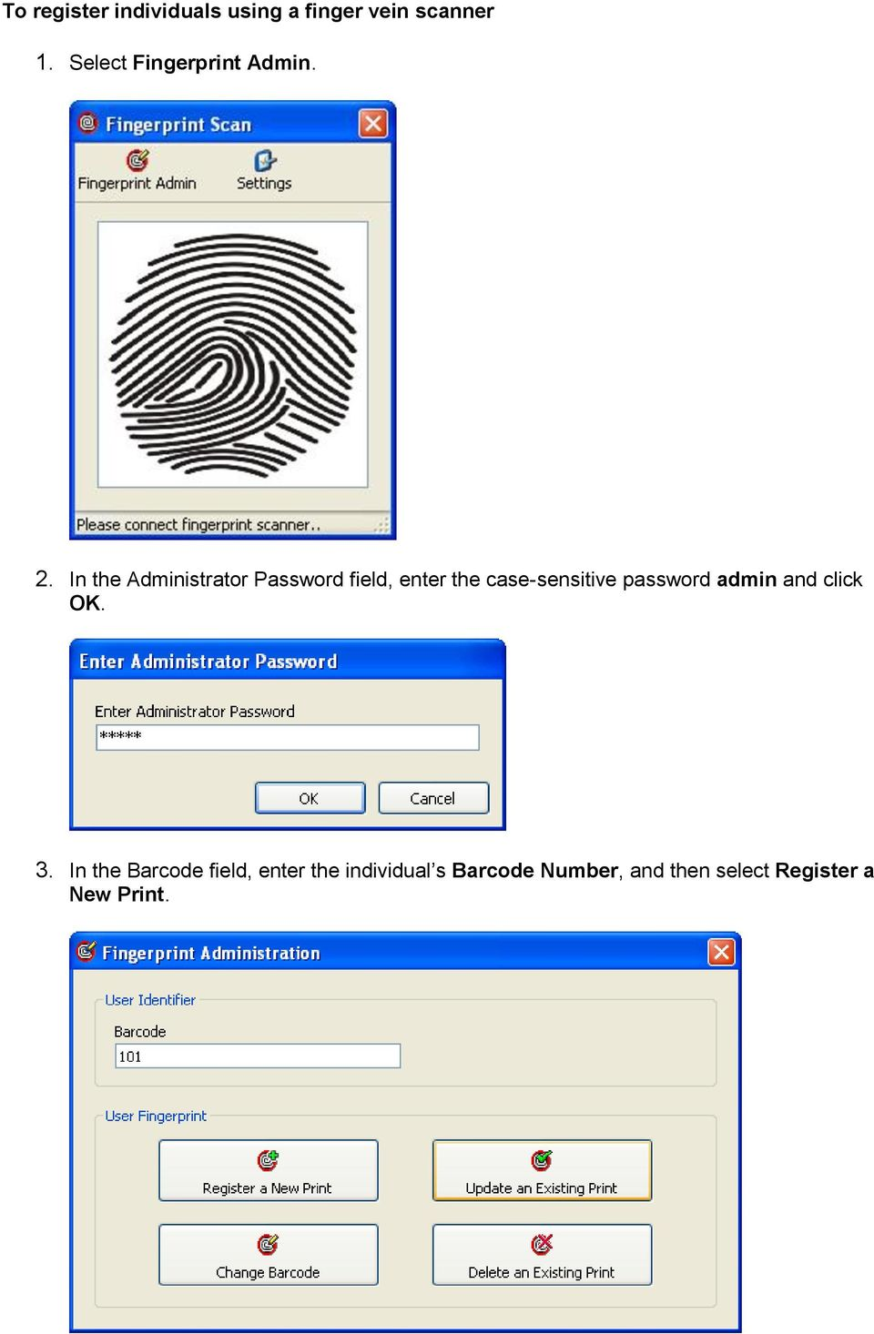 In the Administrator Password field, enter the case-sensitive