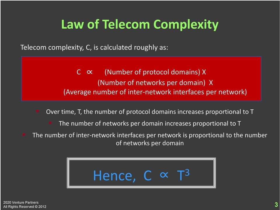 increases proportional to T The number of networks per domain increases proportional to T The number of inter-network