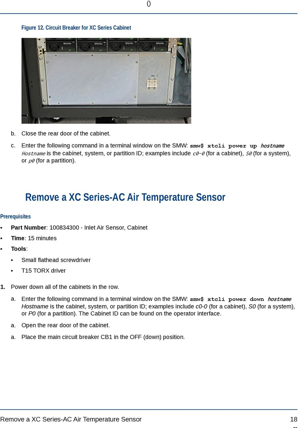 Xc Series Ac Repair Procedures Pdf Circuit Breakers Gt Id Earth Leakage Breaker Enter The Following Command In A Terminal Window On Smw Xtcli Power 19 Figure 13 For