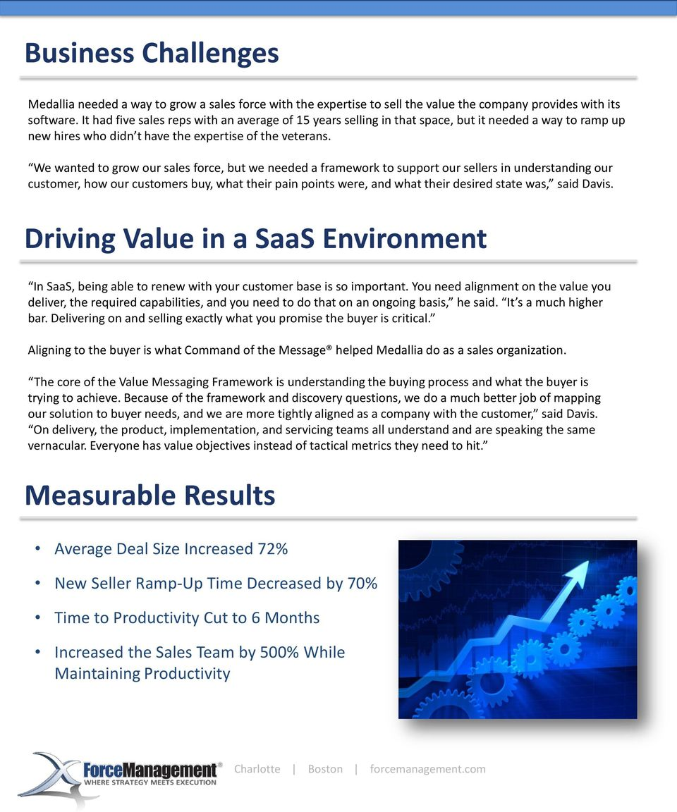 Saas Sales Success Case Study 72 Increase In Average Deal Size Pdf Free Download