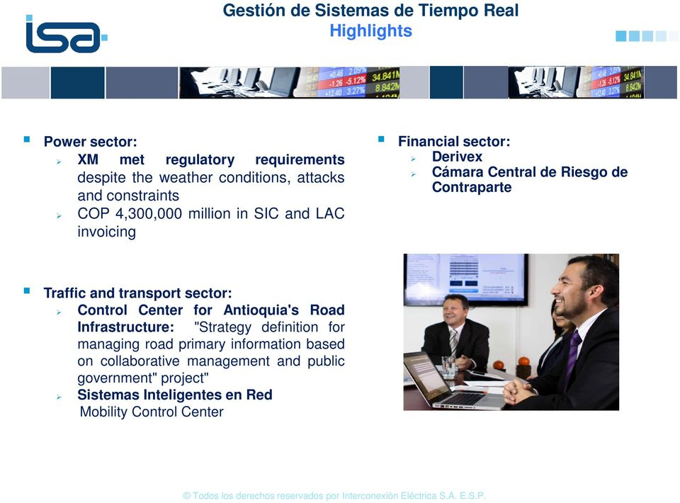 "Contraparte Traffic and transport sector: Control Center for Antioquia's Road Infrastructure: ""Strategy definition for managing"