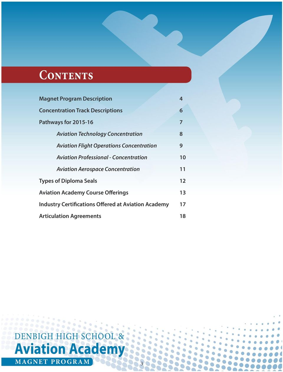 Aviation Aerospace Concentration 11 Types of Diploma Seals 12 Aviation Academy Course Offerings 13 Industry