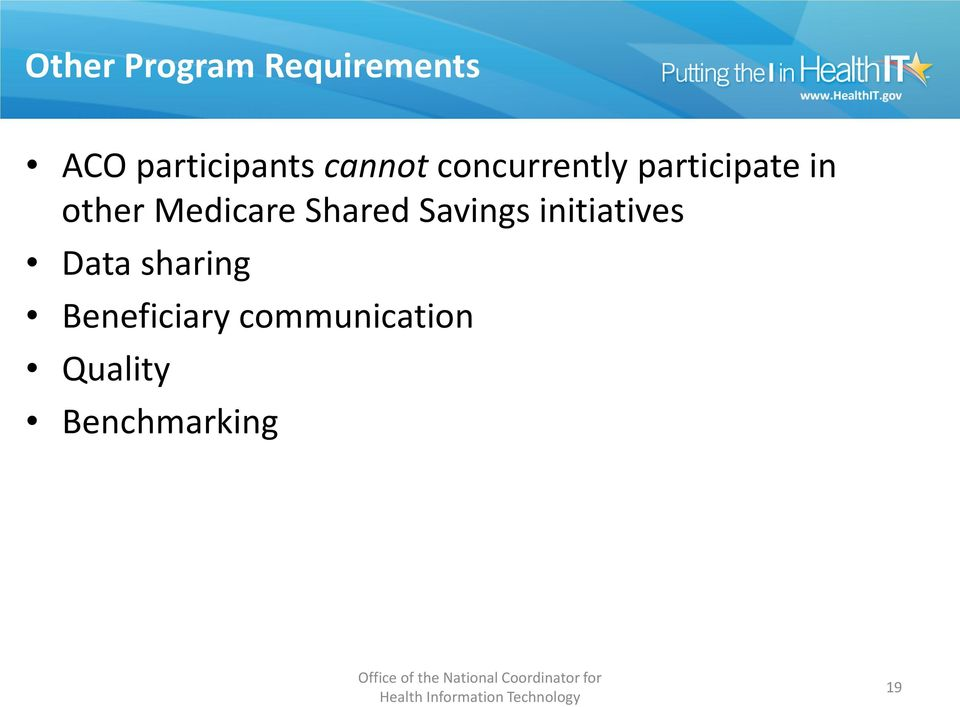 Medicare Shared Savings initiatives Data