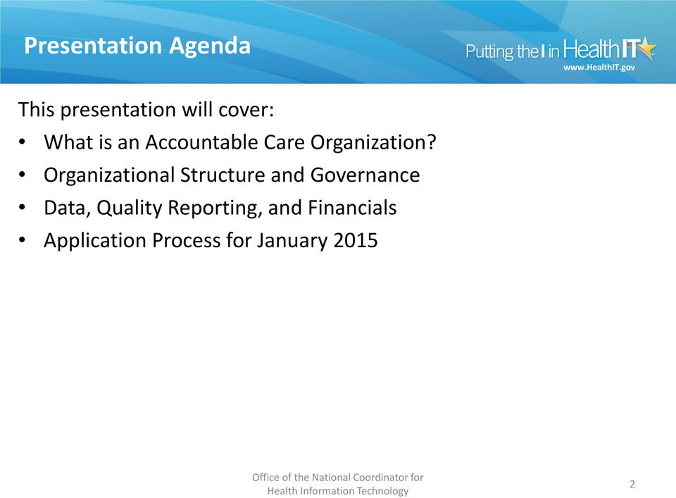 Organizational Structure and Governance Data,