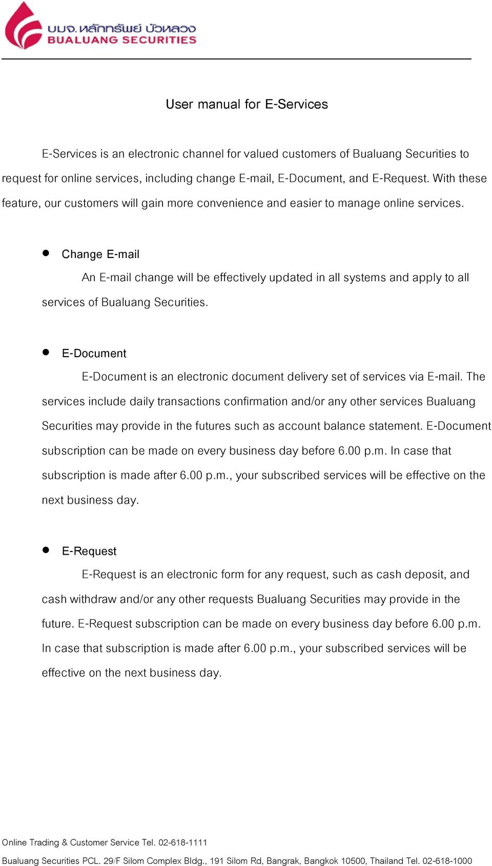User manual for e services pdf for Electronic document delivery service