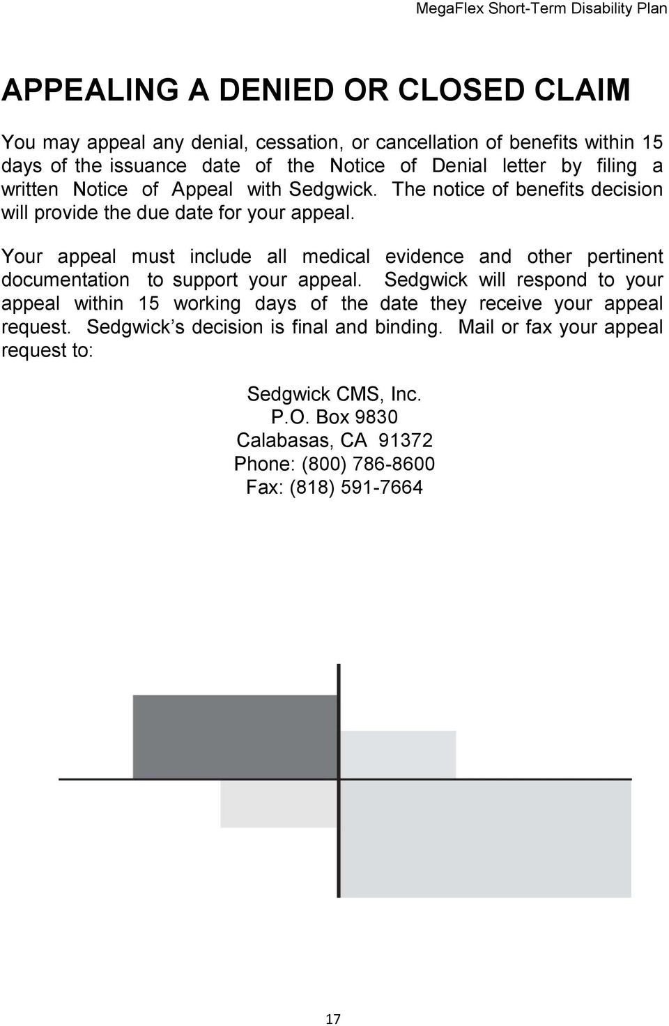 Your appeal must include all medical evidence and other pertinent documentation to support your appeal.