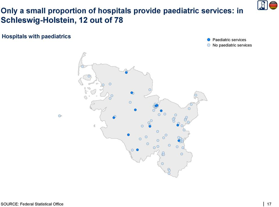 of 78 Hospitals with paediatrics Paediatric services